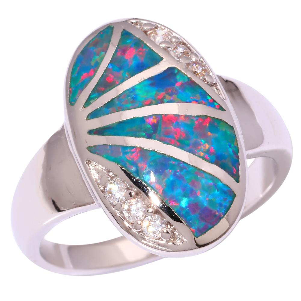 rainbow opal zircon silver for jewelry gemstone