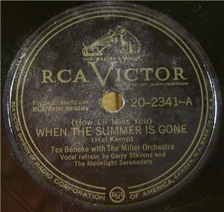 TEX BENEKE,MILLER ORCH. BIG BAND SWING RCA VICTOR (1947) JAZZ 10 78RPM