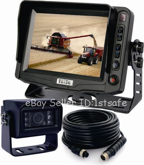 Skid Steer Backup Camera System : Back up rear view ccd camera system quot reversing lcd for