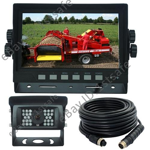 Skid Steer Backup Camera System : Quot digital rear view backup reverse camera system for skid