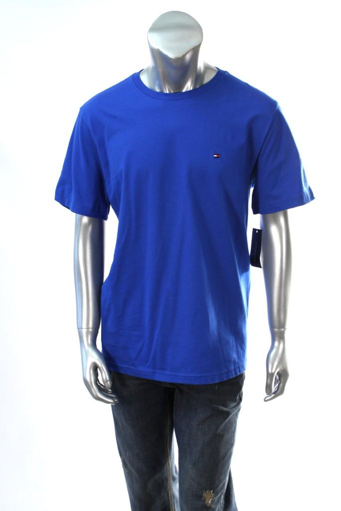 Tommy-Hilfiger-Mens-Royal-Blue-Crewneck-T-Shirt-SZ-L-XL