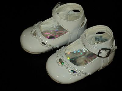 Sizebaby Shoes on Baby Girl Leather Christening Baptism Shoes Size 3 Ebay