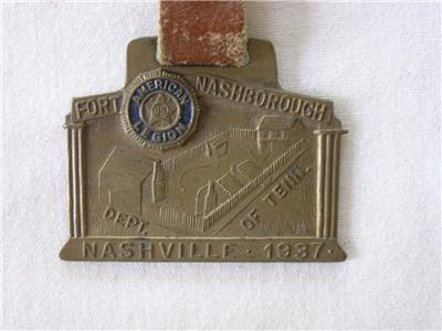 vintage 1937 american legion nashville tennessee watch fob. Black Bedroom Furniture Sets. Home Design Ideas