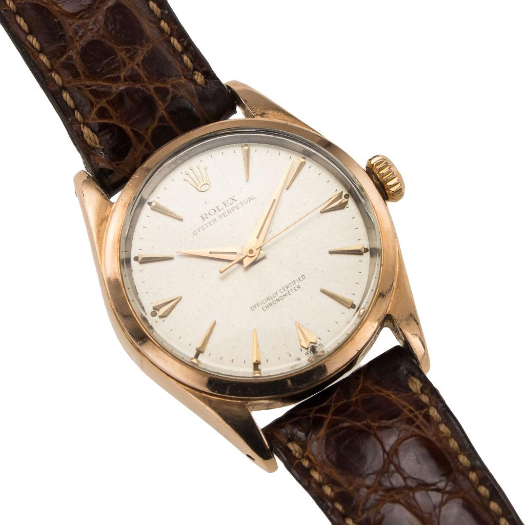 genuine rolex gold plated oyster perpetual bombay lug