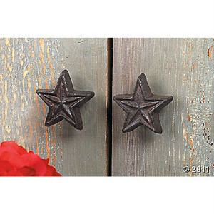 Rustic star drawer and cabinet pull knobs new for Star cabinet pulls