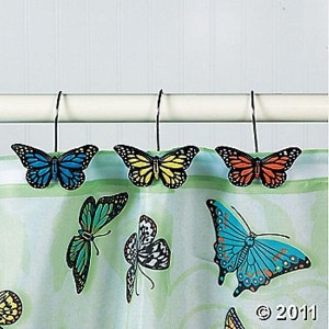 butterfly bathroom complete bathroom shower curtain rugs
