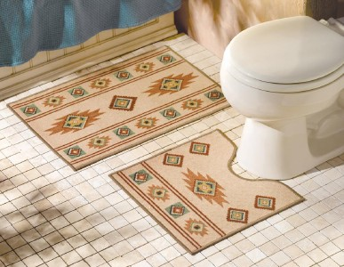 Southwestern bathroom rugs