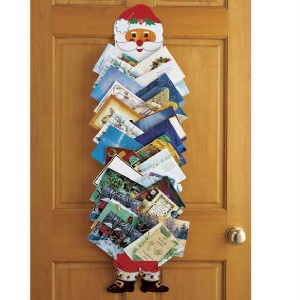 Hanging santa christmas card holder new ebay for Door xmas card holders