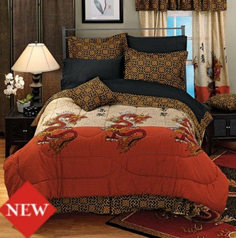 Asian Pattern King Comforter Sets
