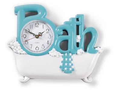 Vintage style claw foot tub bathroom wall clock ebay for Bathroom clock ideas
