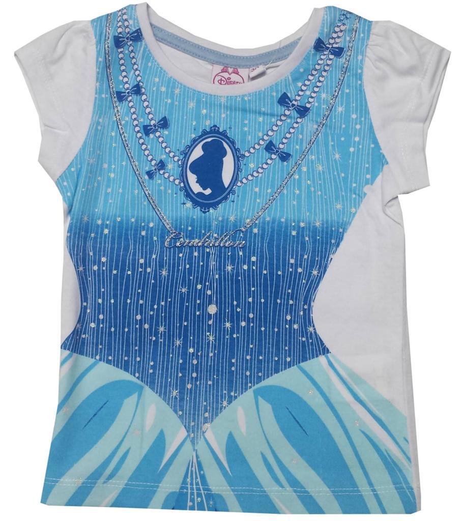 girls disney minnie mouse princess costume printed top t shirt age 3 4 5 6 8 yr ebay. Black Bedroom Furniture Sets. Home Design Ideas