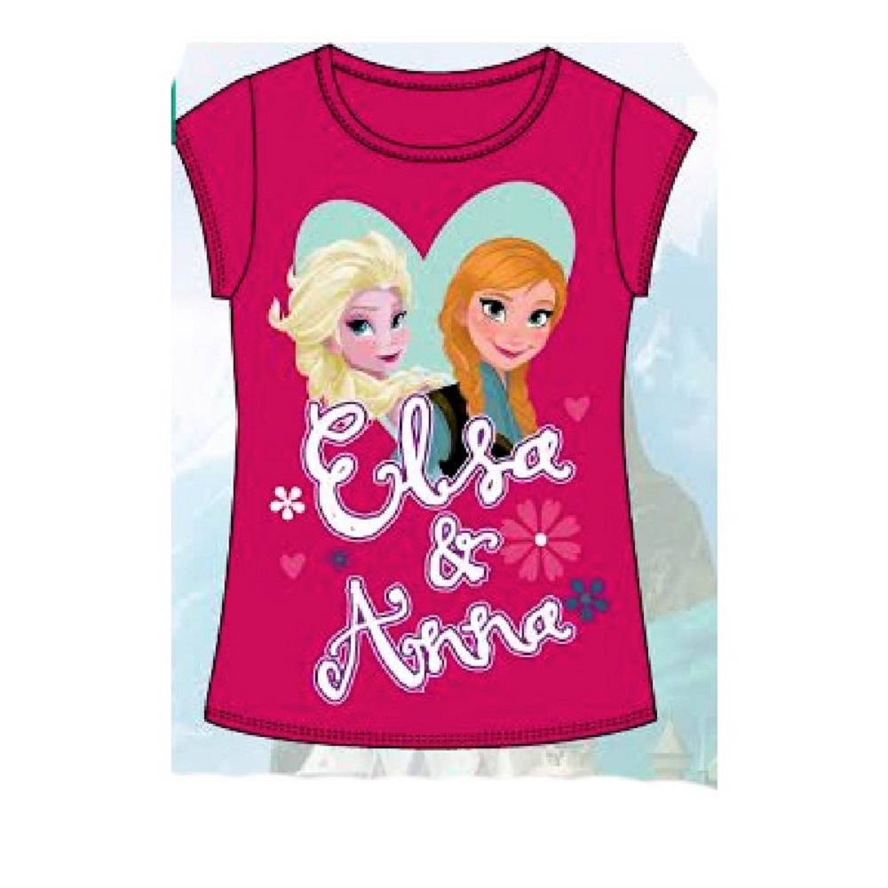 Filles disney frozen elsa anna princesse t shirt top age 3 4 5 6 7