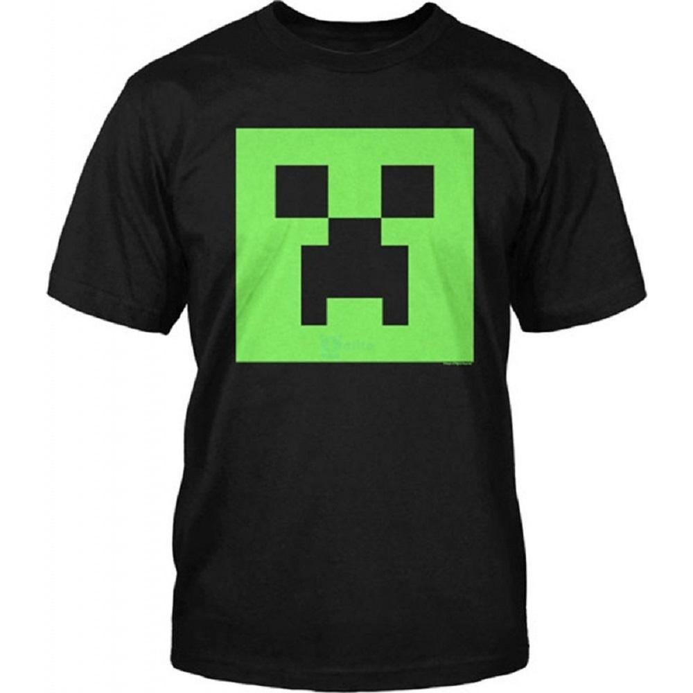 Minecraft t shirt top boys kids adventure runaway creeper for Mine craft t shirt