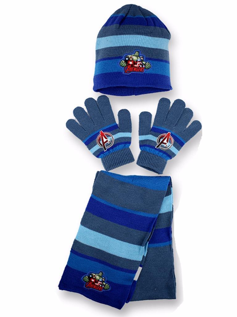 boys kids marvel avengers winter hat gloves and scarf set