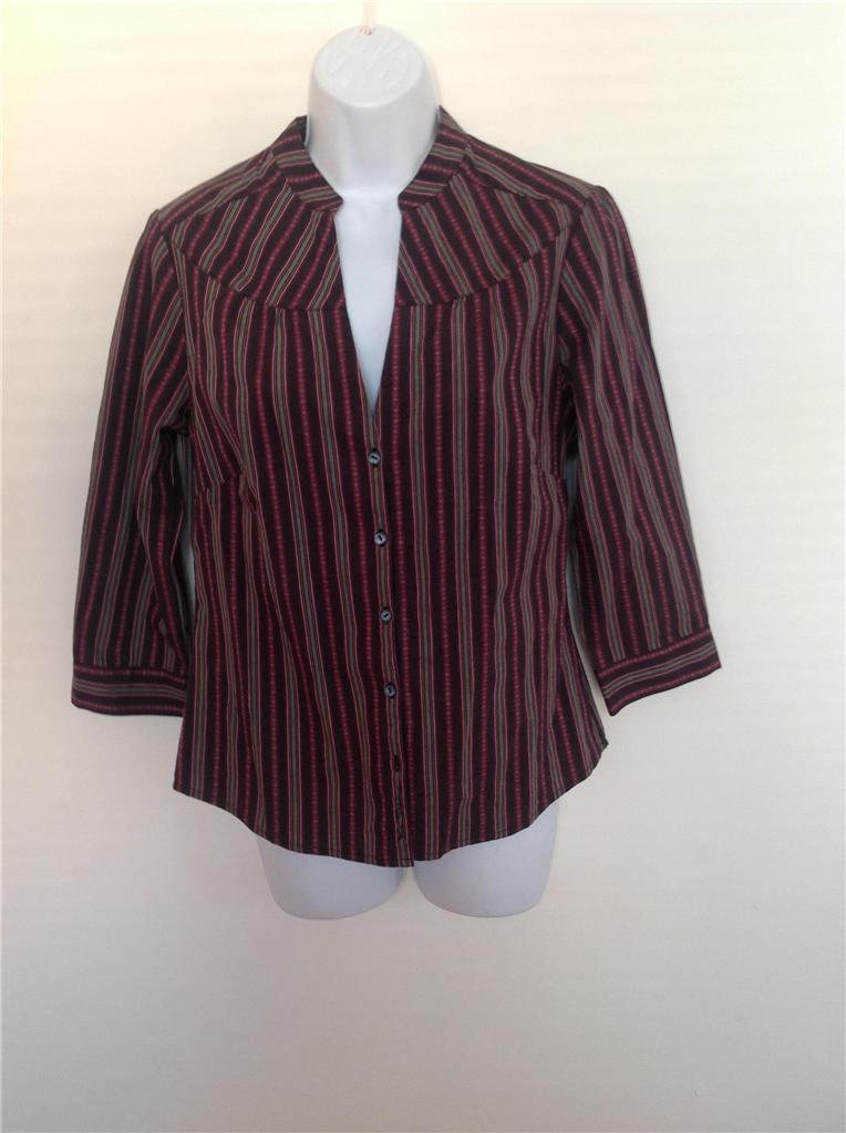 ben sherman women 39 s striped button down shirt blouse top