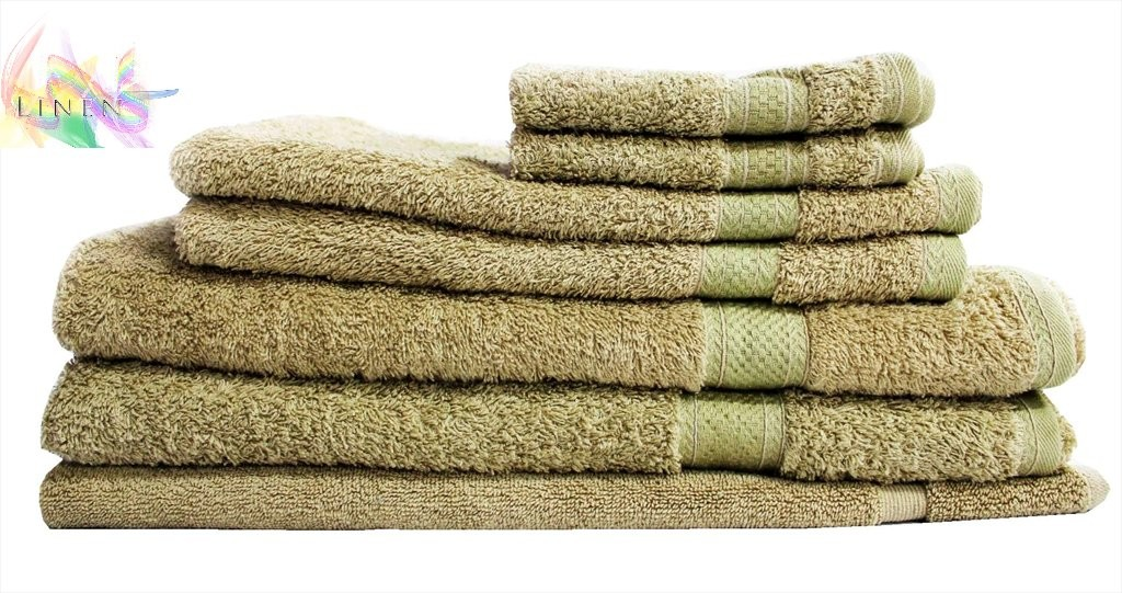 Luxury-Egyptian-Cotton-7-Piece-Bath-Towels-Set-CHAMOISE-NEW