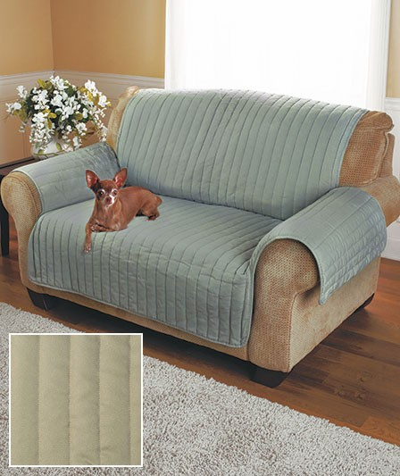 Quilted Twill Furniture Cover 3 Colors Loveseat Sofa