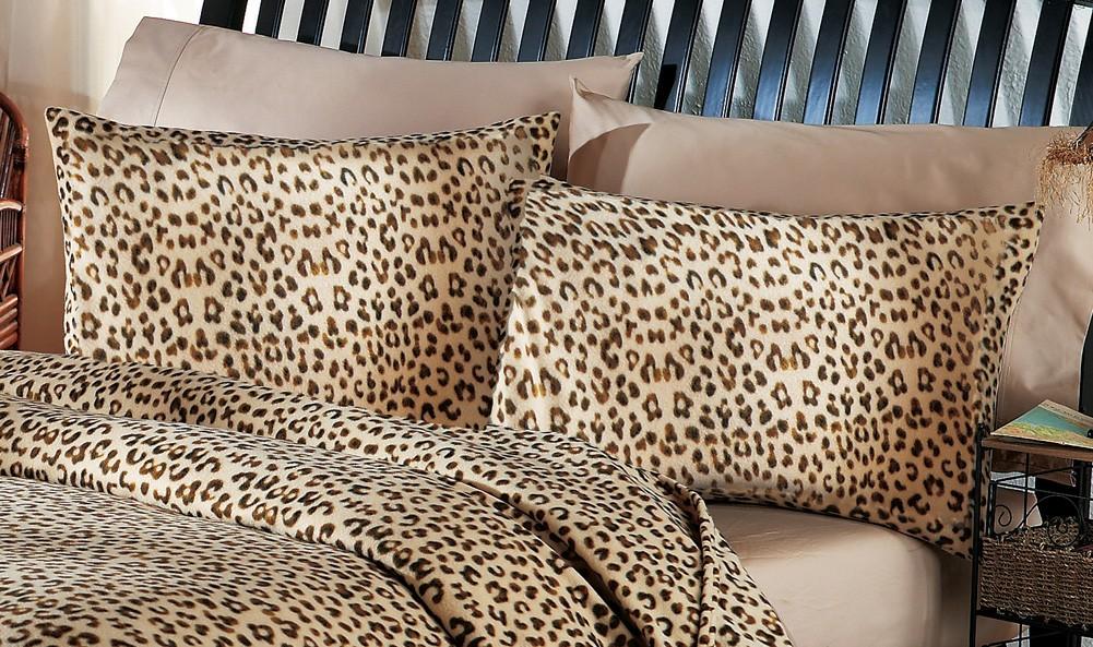Leopard print bedding set comforter pillow shams twin full queen king animal ebay - Cheetah print queen comforter set ...