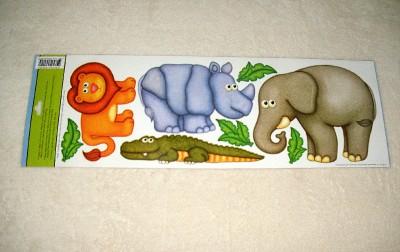 New Baby Kids Room Removable DIY Jumbo Wall Stickers Jungle Safari Zoo