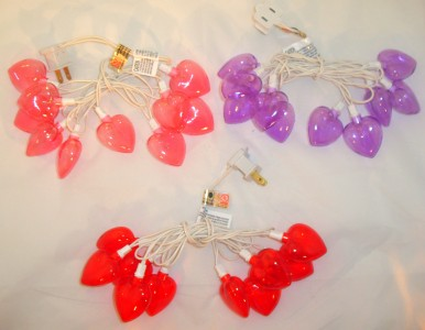 Purple Heart String Lights : Home Decor VALENTINES DAY HEART SHAPED STRING LIGHTS Set PURPLE Indoor Outdoor eBay