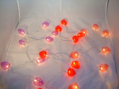 PURPLE HEART SHAPED STRING LIGHTS Set Indoor Outdoor - Ad#: 2061720 - Addoway