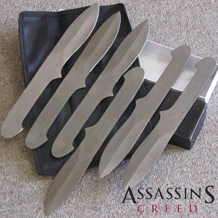 "6pc Large 10 1/2"" Altair Assassin Creed THROWING KNIFE SET ..."