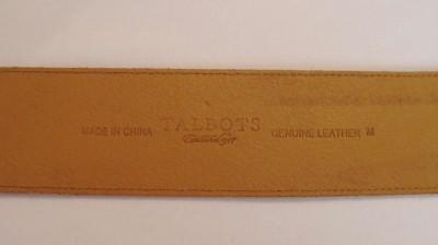 Talbots Buttery Soft X Wide Brown Leather Waist Hip Belt