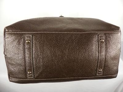 Dooney & Bourke Leather Hobo Handbag w/ Logo Lock~Brown