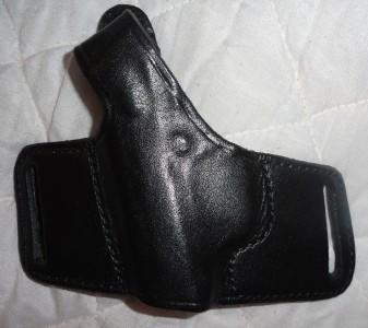 Don Hume H717 No 18 Slide Belt Holster Left Hand Black Leather