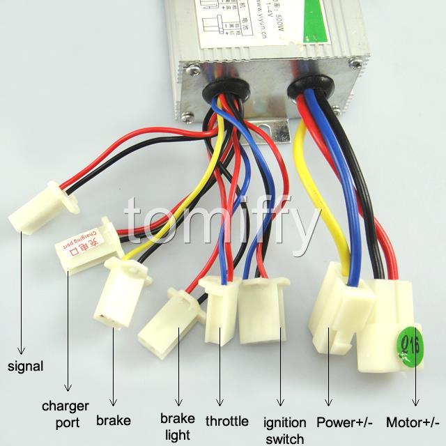 motor brush speed controller 24v 24 volt 500w for electric