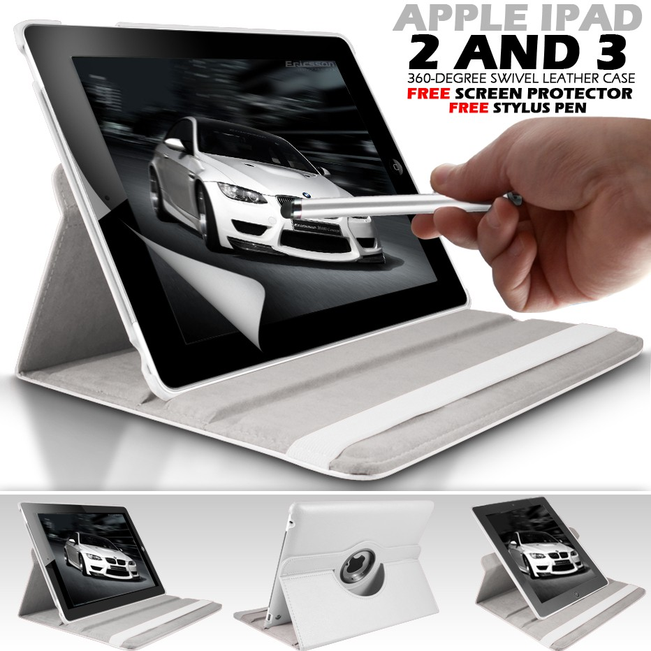 360-SWIVEL-STAND-FLiP-CASE-COVER-SKIN-POUCH-STYLUS-PEN-for-APPLE-iPAD-3-3G-And-2