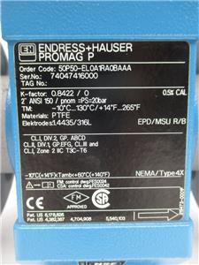 endress hauser promag 50 flow meter manual
