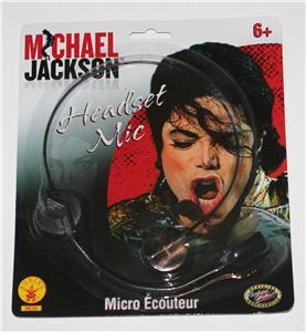 MICHAEL JACKSON King of Pop HEADSET MIC Microphone PROP New Sealed