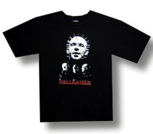 HELLRAISER-1987-Horror-Movie-PINHEAD-DEMONS-Unisex-Short-Sleeve-T-SHIRT-M-L-New
