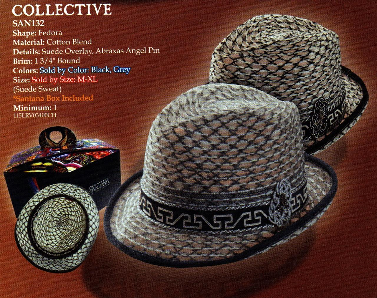 DORFMAN-PACIFIC-Greek-Roman-Collective-CARLOS-SANTANA-Cotton-FEDORA-HAT-M-L-XL