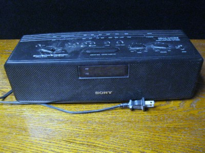 vintage sony dream machine digital clock radio