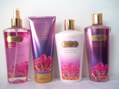 victoria 39 s secret forever pink mist body lotion hand. Black Bedroom Furniture Sets. Home Design Ideas