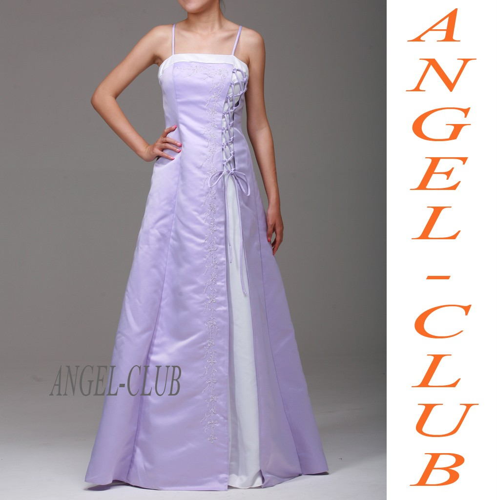 Wedding dresses white and lilac for Lilac dress for wedding