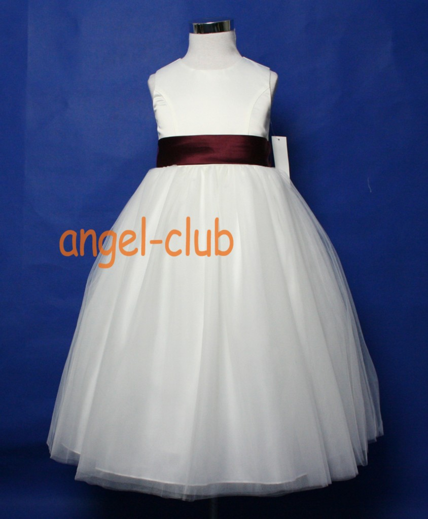 NEW-COLORS-SASH-FLOWER-GIRL-DRESS-IN-IVORY-Sz-2-12