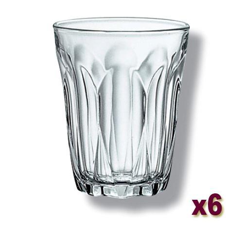 6x duralex 250ml latte juice softdrink glass tumbler restaurant