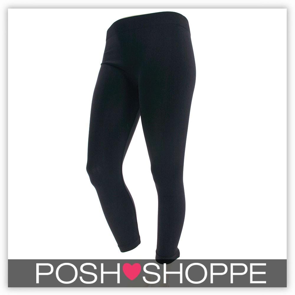 Womens-Plus-Size-Clothing-Leggings-Quality-Sexy-OneSize-1X2X3X-BLK-GRY-BRN-B03
