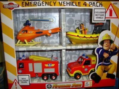 Emergency vehicle 4 pack fireman sam videos