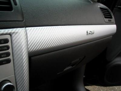 textured silver carbon fiber wrap fabric cloth for interior trim 36 x 55 ebay. Black Bedroom Furniture Sets. Home Design Ideas