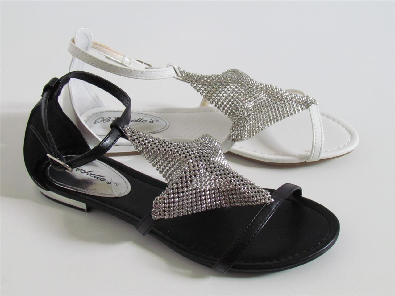 Black mesh sandals - Image Is Loading New Metallic Metal Mesh Ankle T Strap Gladiator