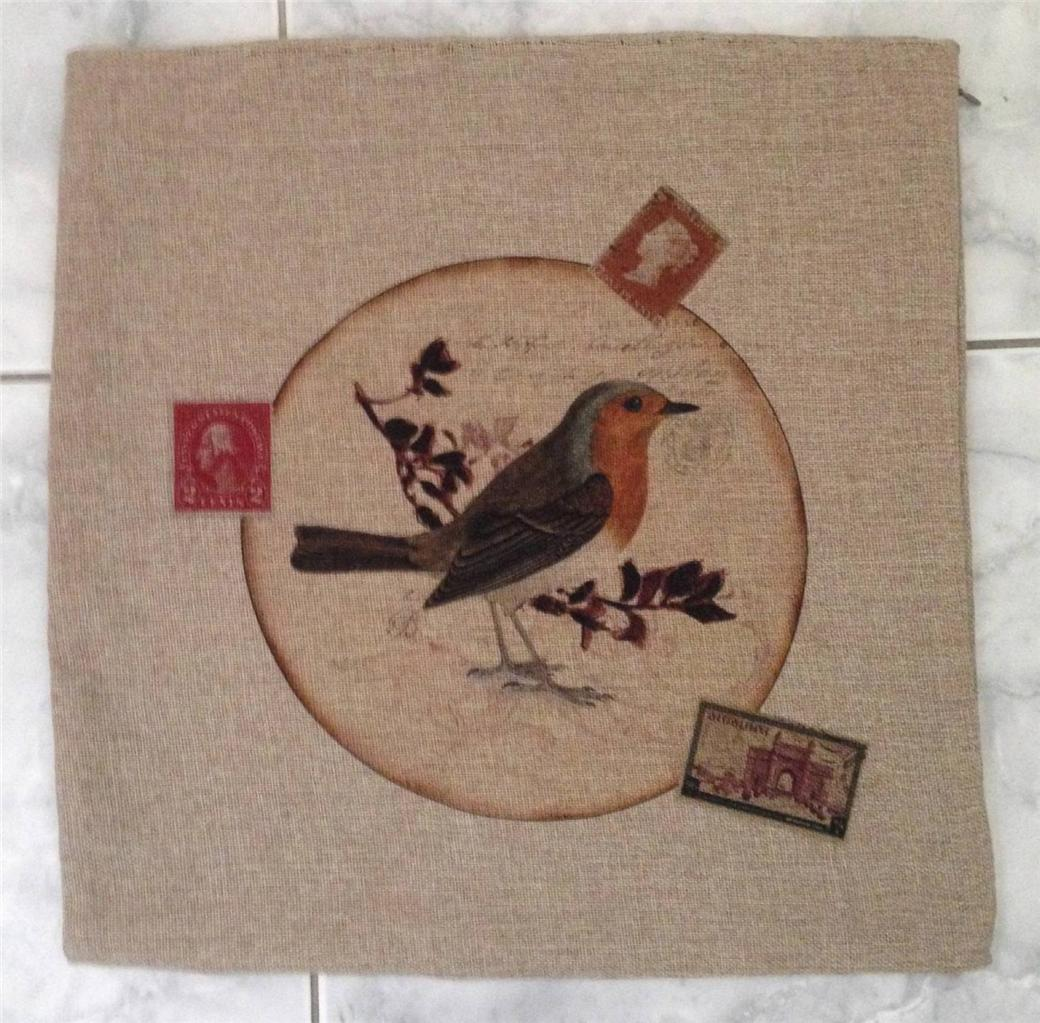 BNNT-CUSHION-COVER-HESSIAN-BIRD-PRINT-VINTAGE-STYLE-45X45cm