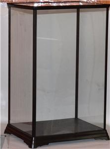 large glass display case figures models dolls trophy trophies cups 36x22x17cm. Black Bedroom Furniture Sets. Home Design Ideas