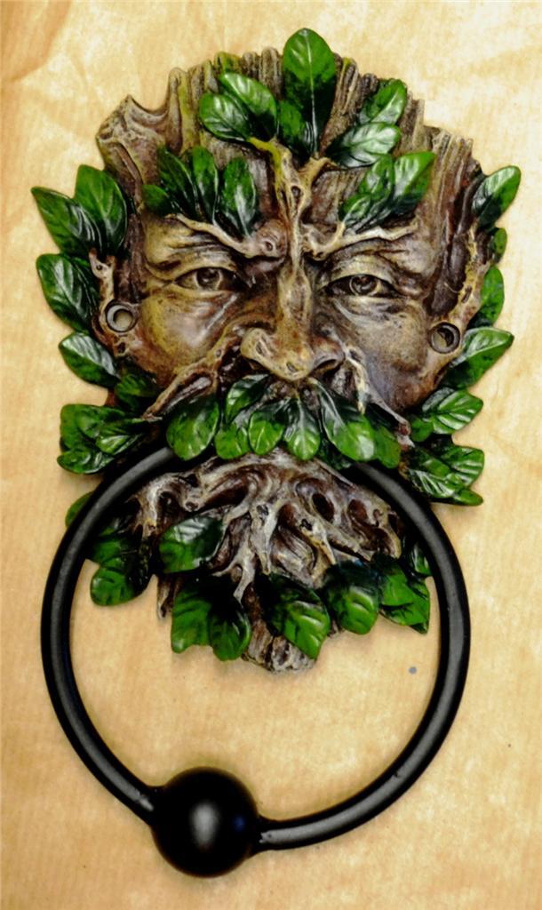 Nemesis now gothic green man wildwood tree spirit door knocker ebay - Green man door knocker ...