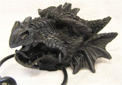 Nemesis now gothic dragon resin door knocker goth pagan myth mythical ebay - Dragon door knockers for sale ...