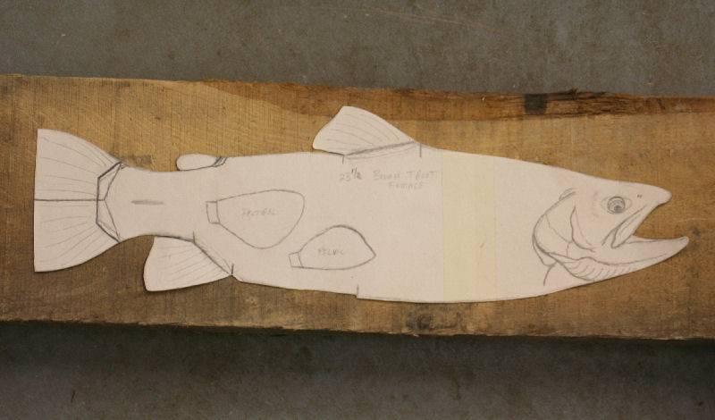 Rare mint 4 5 8 blaine craig kimmel pumpkinseed ice for Fish wood carving