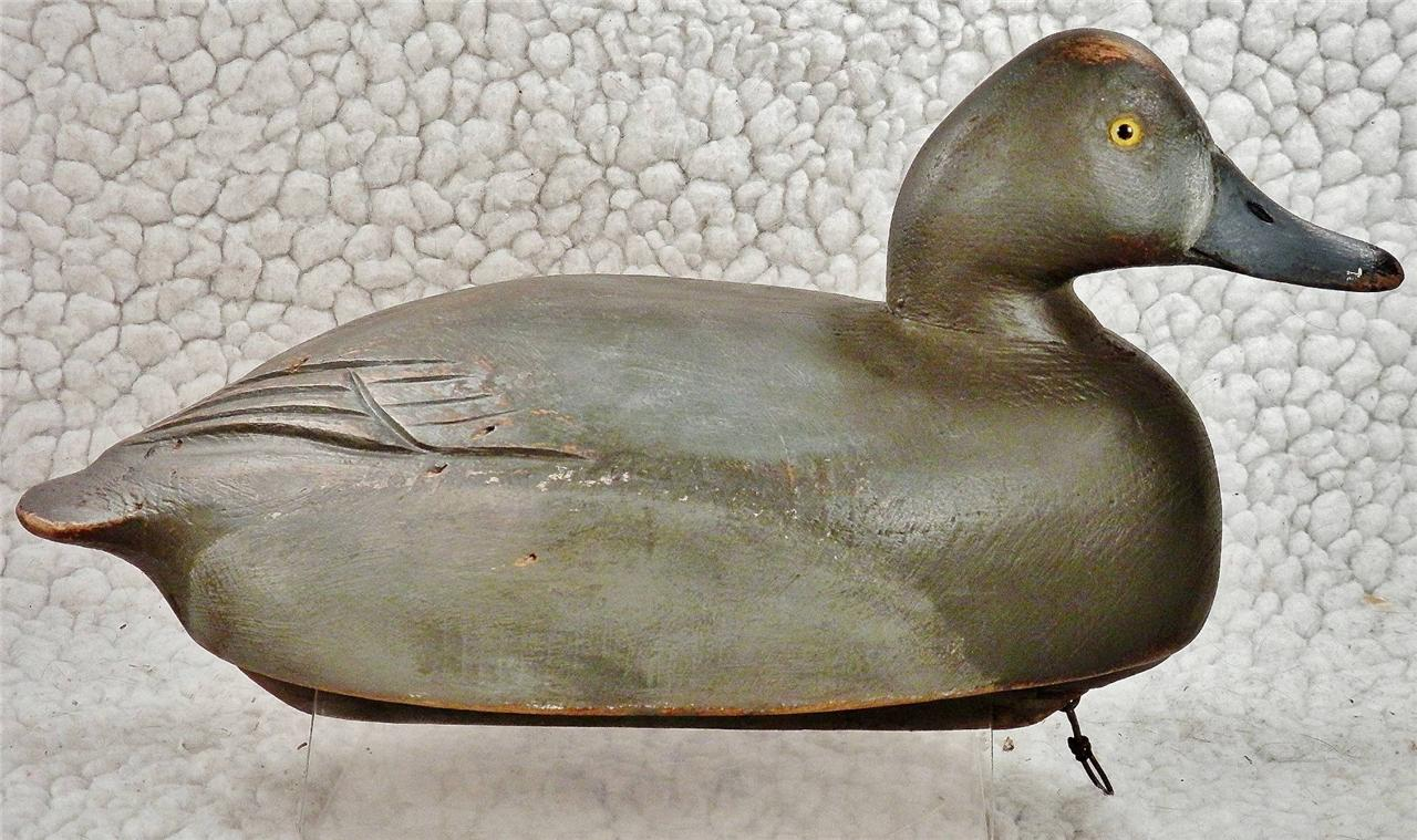 awesome c1950 vintag ben schmidt hen redhead wood duck